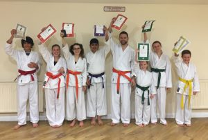 Luton Karate Grading Happy