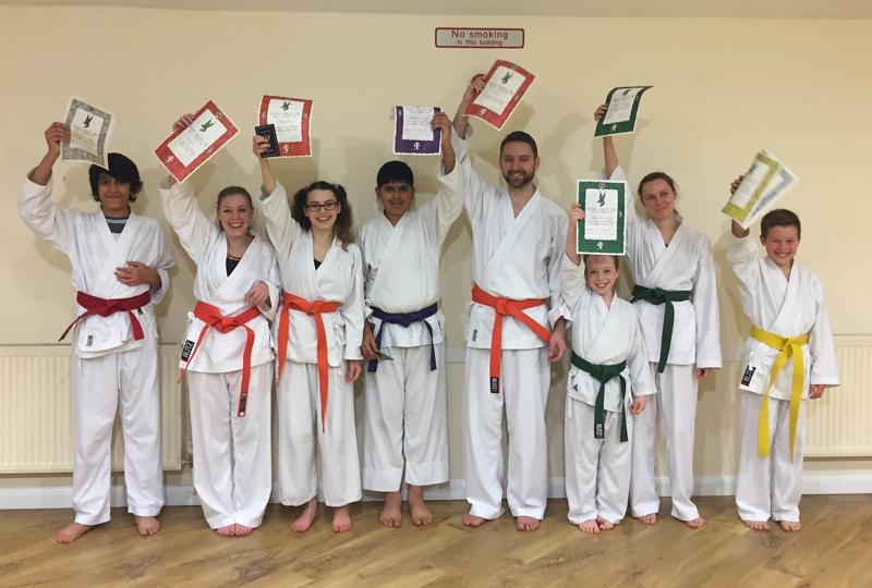 Luton Karate Grading Happy